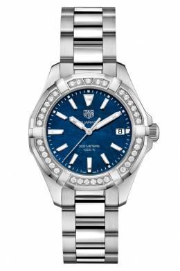 AQUARACER Кварцевые женские часы с синим перламутровым циферблатом Tag Heuer 2849115463
