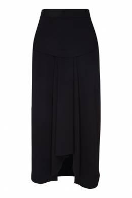 Черная юбка с асимметричным низом Adolfo Dominguez 2061114941