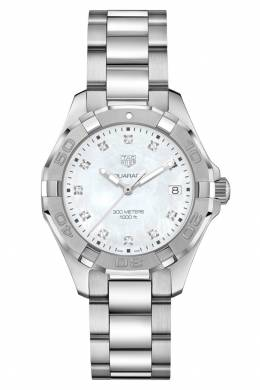 AQUARACER Кварцевые женские часы с перламутровым циферблатом Tag Heuer 2849115479