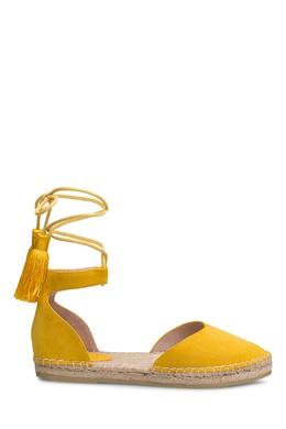 Желтые эспадрильи с завязками Portal 2659117156