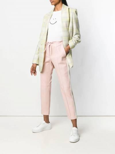 Yves Salomon легкие брюки с лампасами 9EYP267XXAPBI - 2