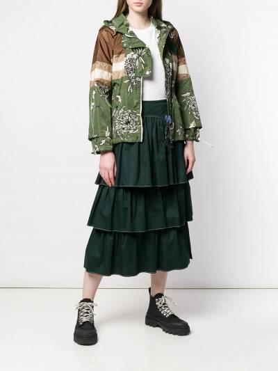 Moncler непромокаемая куртка с цветочным принтом 4512880539GZ - 2