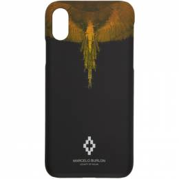 Marcelo Burlon County Of Milan Black Glitch Wings iPhone X Case CMPA007S190080171088