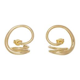 Charlotte Chesnais Gold Round Trip Earrings 17BO049VER
