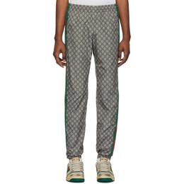 Gucci Brown Nylon GG Oversized Lounge Pants 545609 XJAFX