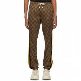 Gucci Brown GG Striped Lounge Pants 545534 XJAF4