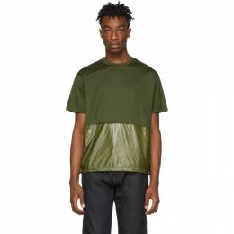 Moncler Green Maglia Combo T-Shirt 80415 00 8390Y