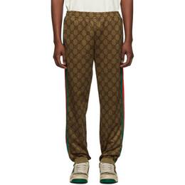 Gucci Brown Classic Logo Lounge Pants 523489 X9V35