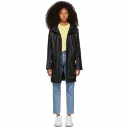 Stutterheim Black Ekeby Lightweight Long Raincoat 191924F05900801GB