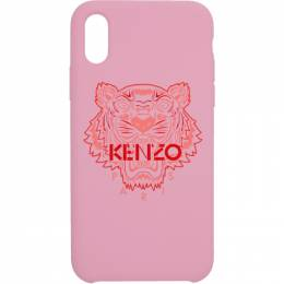 Kenzo Pink and Red Tiger iPhone X/XS Case 191387F03200501GB
