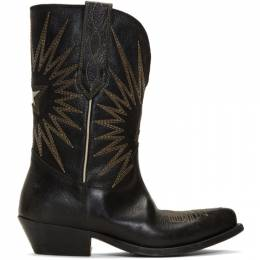 Golden Goose Black Wish Star Low Boots G35WS781.A1