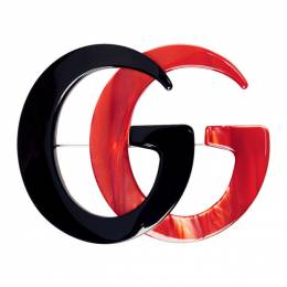 Gucci Black and Red GG Marmont Brooch 566608 I12R2