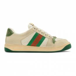 Gucci White Screener Sneakers 5704420YI20