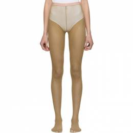 Gucci Tan Lurex Tights 561287 3GC69