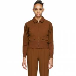 Opening Ceremony Brown Batwing Track Jacket SS19AMD11149