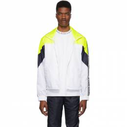 Opening Ceremony White and Yellow Nylon Warm Up Jacket SS19ADT21058
