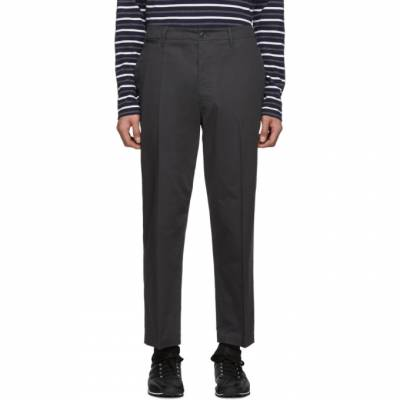 Lemaire Grey Twill Chino Trousers M 191 PA123 LF257 - 1