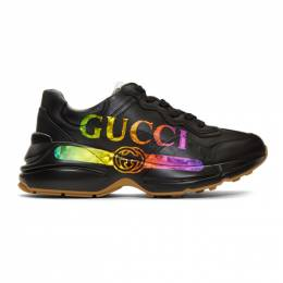 Gucci Black Vintage Rython Sneakers 553608DRW00