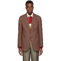 Gucci Red GG Canvas Blazer 563510 ZKU09