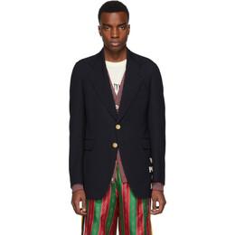 Gucci Blue Wool Cote dAzur Blazer 572515 Z568J