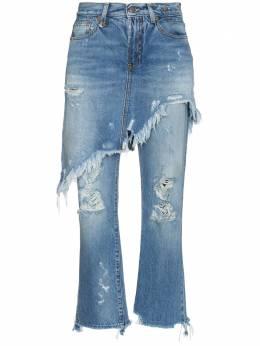 R13 двухслойные джинсы с необработанными краями R13W0195149