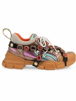Gucci кроссовки 'Flashtrek' со съемным декором 537133DOR60