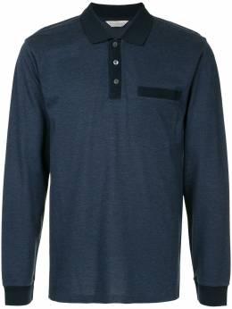 Gieves & Hawkes рубашка-поло с длинными рукавами G38H8EI03038