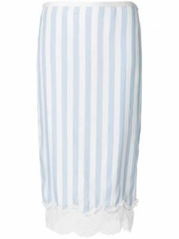 Rochas юбка-карандаш в полоску с кружевной отделкой ROPM350601RM280310
