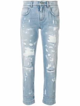 Dolce&Gabbana джинсы-бойфренды с эффектом потертости FTAIAZG8X83