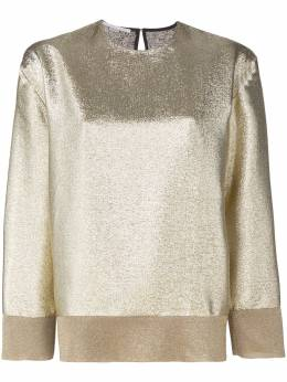Stella McCartney блузка с отделкой металлик 503237SKA03