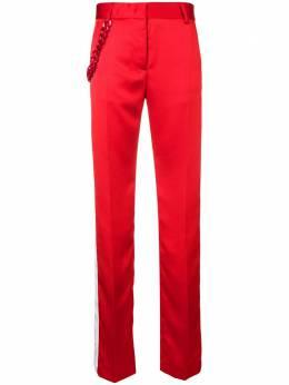 MSGM классические брюки с декоративной цепокой 2542MDP101Y184614