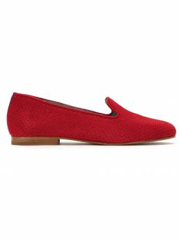 Blue Bird Shoes perforated suede loafers LOAFERSAUDADECAMURCAVERMELHO