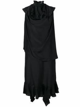 J.W. Anderson длинное платье с оборками DR05818D