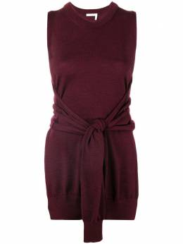 Chloe knot-detail sleeveless knitted top CHC18AMH08720