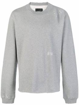 Rta distressed severed hem sweatshirt MF821433