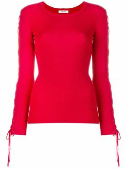 P.a.r.o.s.h. laced sleeves knitted top LICYD510799