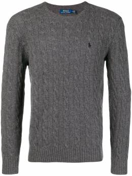 Polo Ralph Lauren cable knit logo embroidered jumper 710719546