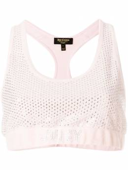 Juicy Couture велюровый топ с кристаллами Swarovski WTKT129024