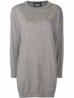 Boutique Moschino embellished sweater dress A04826100