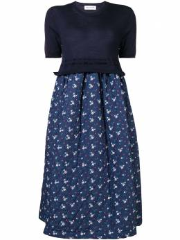 Comme Des Garcons Girl floral print quilted skirt dress NBO004W18