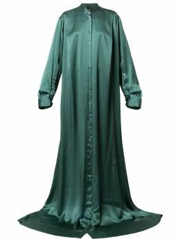 Ann Demeulemeester длинное платье на пуговицах 18022316145056