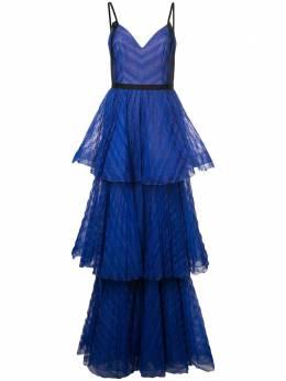 Marchesa Notte длинное платье в стиле ампир N27G0737