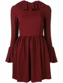 Valentino платье-мини с оборками QB0VAJT74AQ
