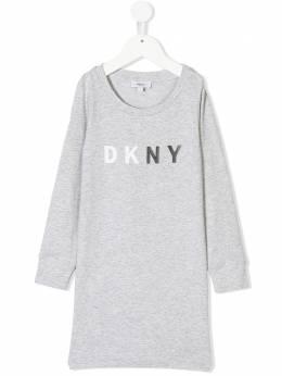DKNY Kids logo printed jersey dress D32692A32