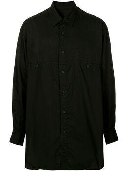 Yohji Yamamoto рубашка со вставками HVB05800