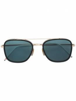 Thom Browne Eyewear солнцезащитные очки в квадратной оправе TB800AGLDBLK51