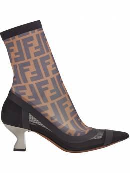 Fendi туфли с эластичной вставкой и логотипом 8W6843A623
