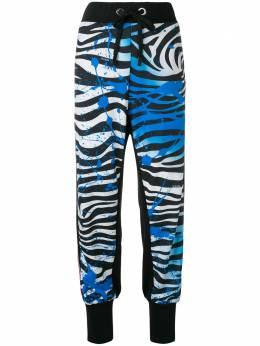 No Ka' Oi спортивные брюки с зебровым принтом P3CPTNOKW67488A0