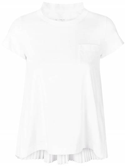 Sacai футболка с плиссировкой на спине SCW024 - 1
