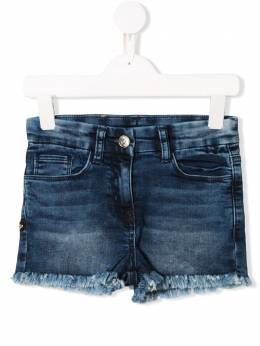 Monnalisa джинсовые шорты с необработанным краем 193408R73012